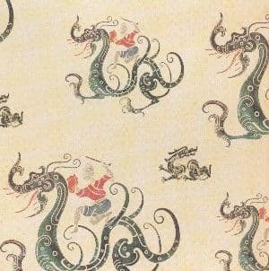 A4 Vintage Oriental Chinese Dragons