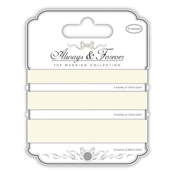 Always & Forever Satin Ribbons - Ivory