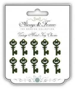 Always & Forever Vintage Metal Charms - Metal Keys