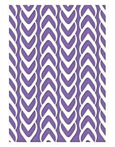 Couture Creations Embossing Folder Weaved