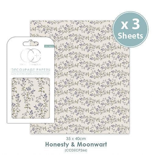 Craft Consortium Decoupage Papers Honesty & Moonwart