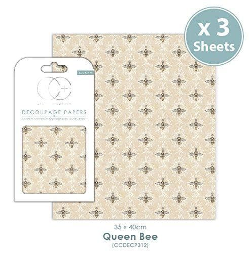 Craft Consortium Decoupage Papers Queen Bee