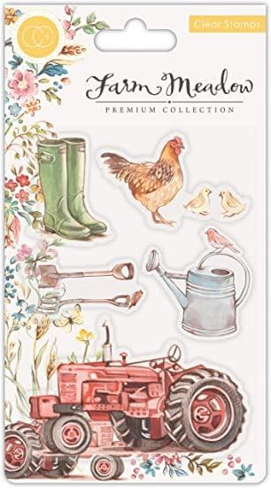 Craft Consortium - Farm Meadow  - A6 Clear Stamp Set