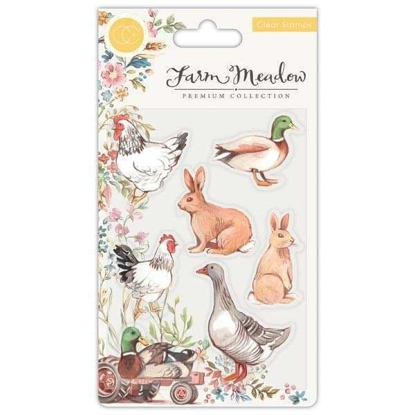 Craft Consortium - Farm Meadow - Animals  - A6 Clear Stamp Set