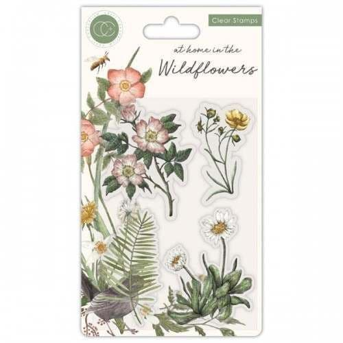 Craft Consortium - Wild Flowers - Flora - A6 Clear Stamp Set