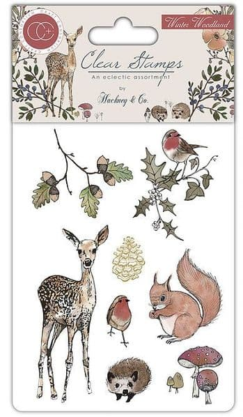 Craft Consortium - Winter Woodland - A6 Clear Stamp Set