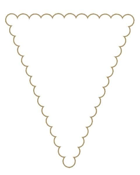 Craft UK Bunting Pack White Scallop