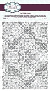 Creative Expressions A4 Embossing Folder Cross Stitch