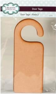 Creative Expressions MDF Door Tags 2 Pack