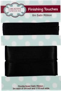 Creative Expressions Satin Ribbon Black