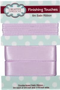 Creative Expressions Satin Ribbon Light Orchid