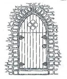 Creative Expressions Singles Rubber Stamp Gothic Gateway