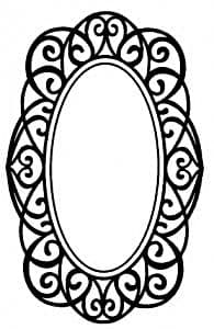 Creative Expressions Singles Rubber Stamp Regency Oval Frame