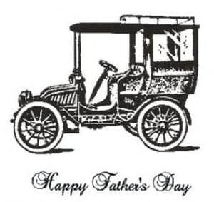 Creative Expressions Singles Rubber Stamp Vintage Car
