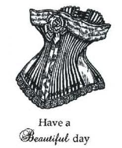 Creative Expressions Singles Rubber Stamp Vintage Corset