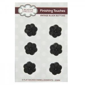 Creative Expressions Vintage Buttons Black