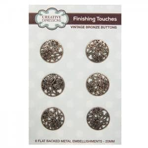 Creative Expressions Vintage Buttons Bronze Metal