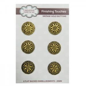 Creative Expressions Vintage Buttons Gold