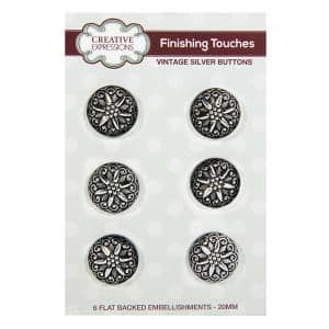 Creative Expressions Vintage Buttons Silver