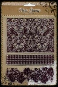 Exchangeable Clear Stamp Set Floral Background