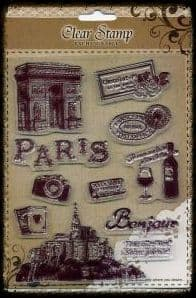 Exchangeable Clear Stamp Set Paris