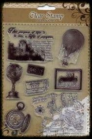 Exchangeable Clear Stamp Set Travel