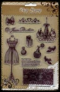Exchangeable Clear Stamp Set Vintage Boutique