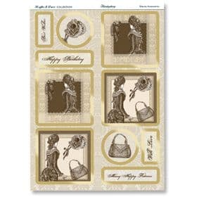 Hunkydory Die-Cut Collage Sheet Classic Accessories