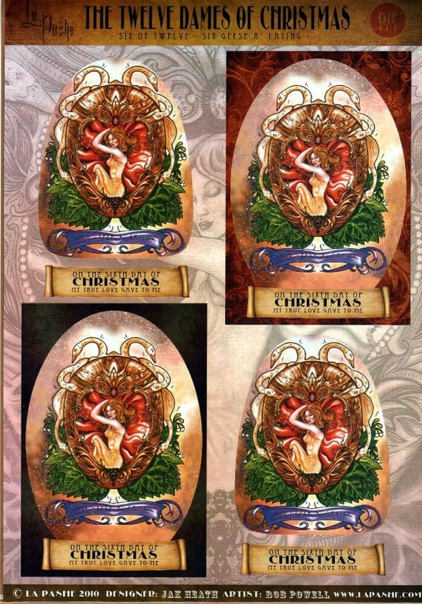 La Pashe 12 Dames of Christmas Collage Sheet 06 Geese