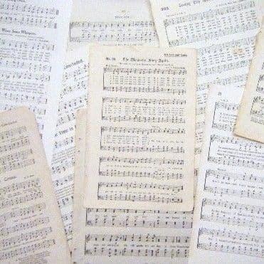 Sheet Music - 10 Assorted Pages