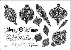 U-mount A5 Stamp Plate Christmas Bauble