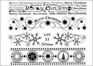 U-mount Christmas Borders Clear Cling Stamps