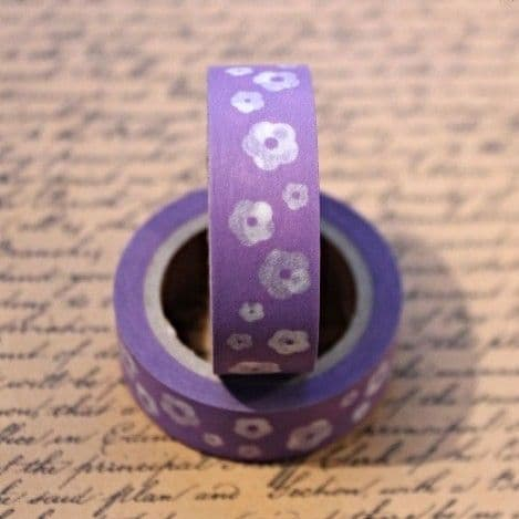 Washi Tape Floral Purple