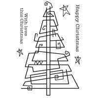 Woodware Clear Magic Stamp Paperclip Tree
