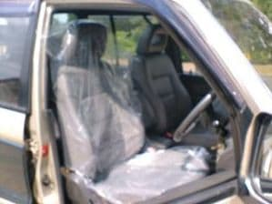 20 X 25 Micron Clear Disposable Plastic Car Seat Covers