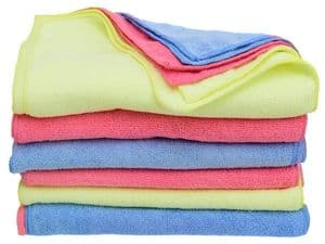 36 X Microfibre Cleaning Cloths 40cm x 30cm Three  Assorted Colours