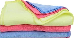 5 X Ultra Soft Micro Fibre Cleaning Cloths 30x40cm