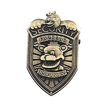 Five Nights At Freddy's Fazbear 5cm Security Metal Brooch Badge