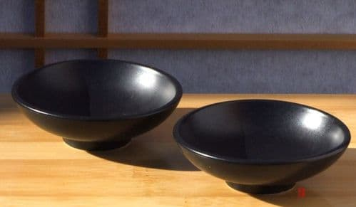 Canapé sauce and condiment dishes round durable X2 black  8cm