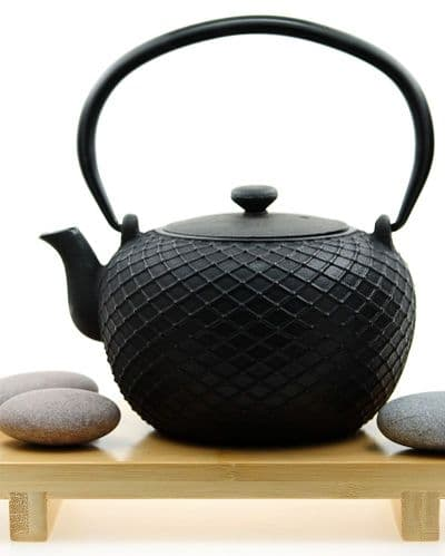 Cast iron KYOTO black teapot 0.8L Tetsubin Japanese style tea pot kettle - GOTO