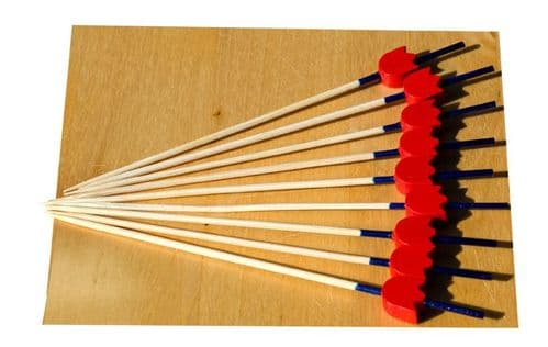 Red Tulip Blue Stalk wood skewer 12cm x100  GOTO