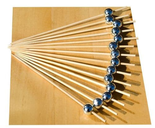 Silver Pearl wood skewer 12cm x100  GOTO