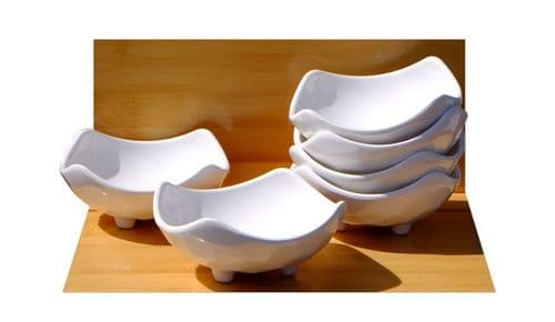White contemporary rounded melamine dishes X6 Melamine plastic