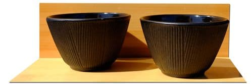 Bamboo Forest - Cast iron black tea cup X2