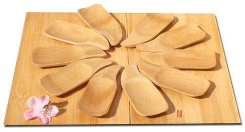 Bamboo Wave serving dish x10 - 10cm