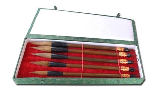 Chinese Calligraphy medium size goat hair brushes X 5 (A868)