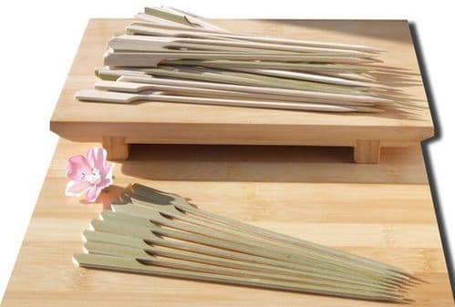 Cocktail & cooking Paddle skewer bamboo 18cm X 50 Japanese style - GOTO