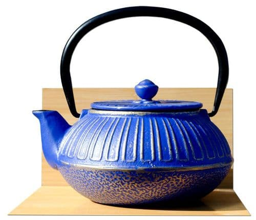 IMPERIAL cast iron tea pot kettle 0.6L Midnight blue on gold colour Tetsubin Japanese style GOTO®