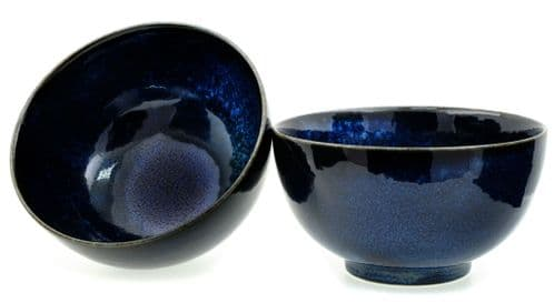 Japanese Moon Shimmer Rice Bowls 13X7 cm X2