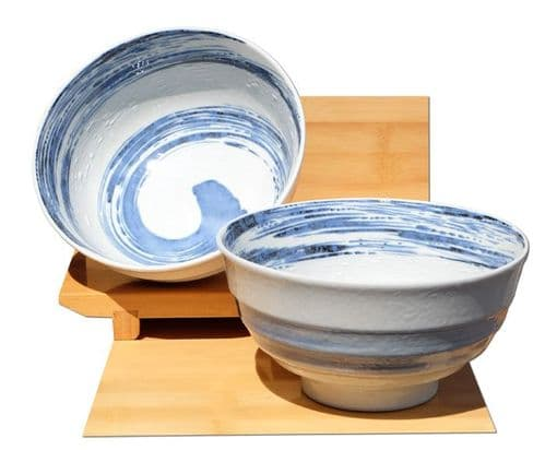 Sea Spray ceramic bowls Japanese for two